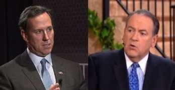 santorum huckabee