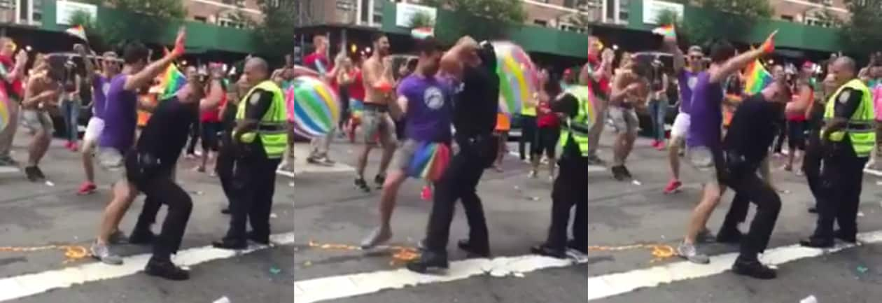 the dirty dancing cop from nyc gay pride is back video