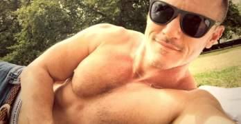 Shirtless Luke Evans