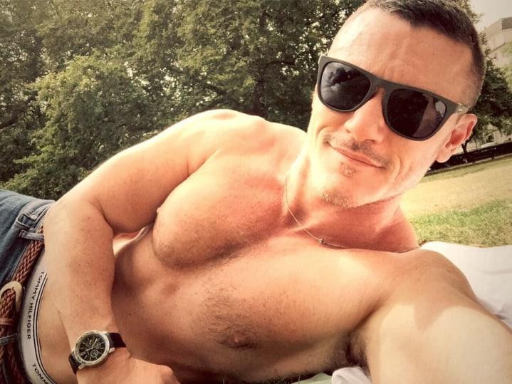 Shirtless Luke Evans