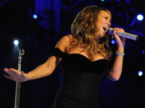 Mariah Carey sings at the Neighborhood Ball in downtown Washington, D.C., Jan. 20, 2009. More than 5,000 men and women in uniform are providing military ceremonial support to the presidential inauguration, a tradition dating back to George Washington's 1789 inauguration. (DoD photo by Tech. Sgt. Suzanne M. Day, U.S. Air Force/Released)