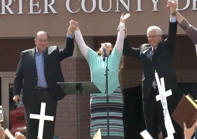 huckabee marriage same sex kim davis in Columbia