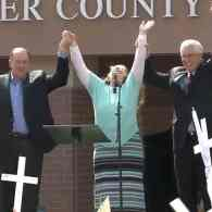 Mike Huckabee Sued for Using 'Eye of the Tiger' at Kim Davis Rally
