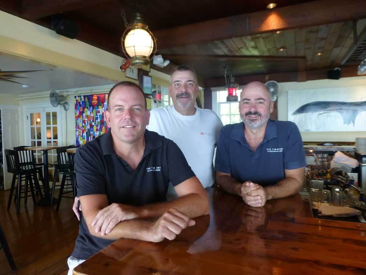 The Red Inn owners Sean Burke, David Silva, and Philip Mossy.