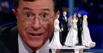 Stephen Colbert wedding cake toppers