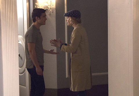 "SCREAM QUEENS: Pictured L-R: Diego Boneta as Pete and Skyler Samuels as Grace in the ""Haunted House"" episode of SCREAM QUEENS airing Tuesday, Oct. 6 (9:00-10:00 PM ET/PT) on FOX. ©2015 Fox Broadcasting Co. Cr: Hilary Gayle/FOX."