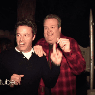 Eric Stonestreet visits Haunted House