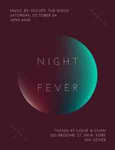 Night Fever Flyer