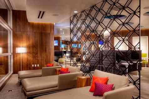 American Express Centurion Lounge, Las Vegas in Towleroad and ManAboutWorld gay travel magazine