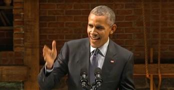 Barack Obama mocks
