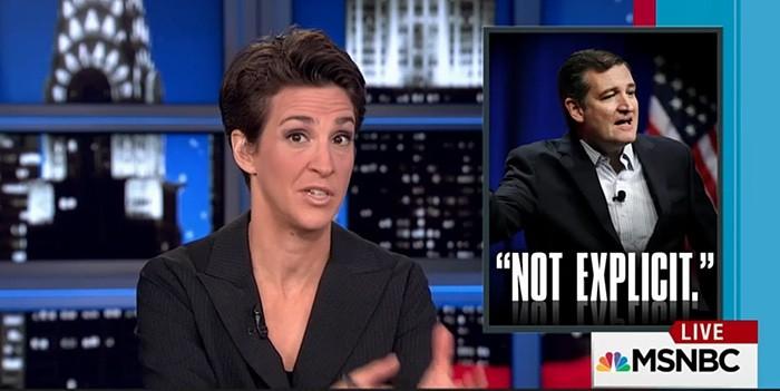 Rachel Maddow goes after Ted Cruz