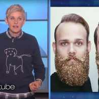 Ellen Has Two Things to Say About the Glitter Beard Trend: Why and What the Hell? – WATCH