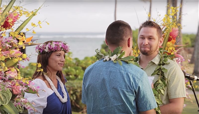 Hawaii surprise wedding