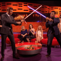 David Beckham and Star Wars' John Boyega Had a Lightsaber Duel on 'The Graham Norton Show' – WATCH