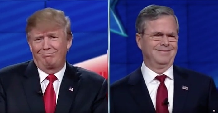 donald trump and jeb bush
