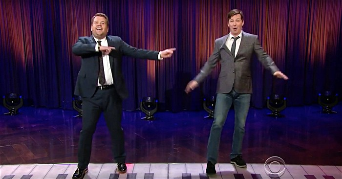 James Corden and Sean Hayes