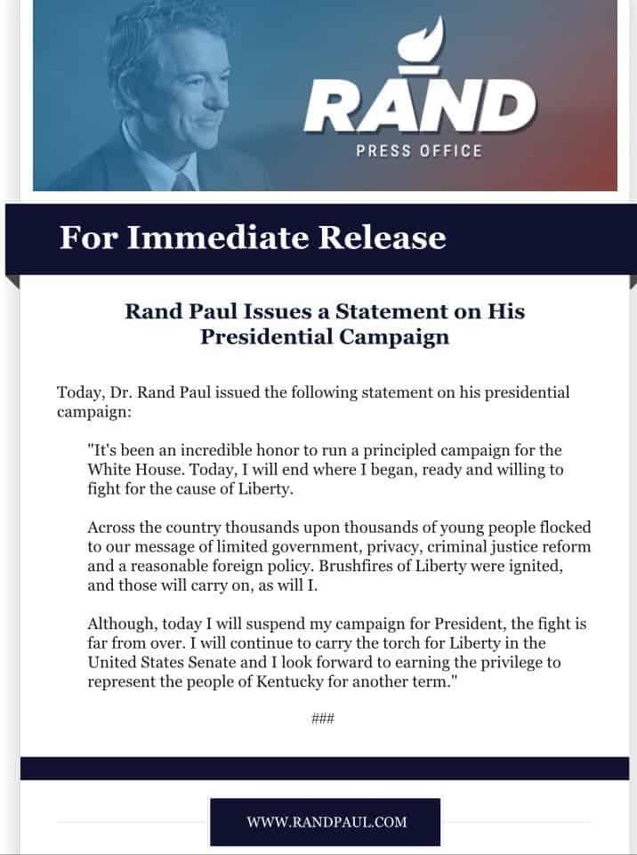 Rand Paul suspends