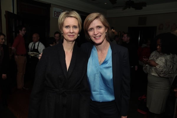 Cynthia Nixon and Ambassador Samantha Power (c) Ian Strood for FUN HOME