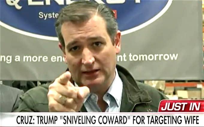 Ted Cruz sniveling coward