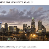 Charlotte, North Carolina Making Plans to Move to Another State
