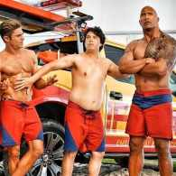 Jon Bass Feels Up His Rock-Hard Co-Stars Zac Efron and Dwayne Johnson in New 'Baywatch' Photo