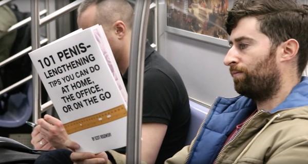 fake book covers subway
