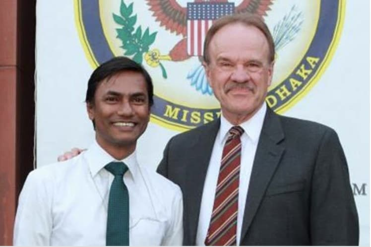 Mannan and former US Ambassador to Bangladesh Dan Mozena