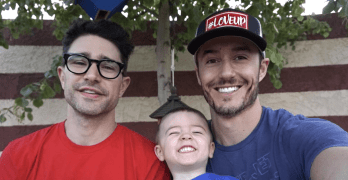 MATT DALLAS BLUE HAMILTON family