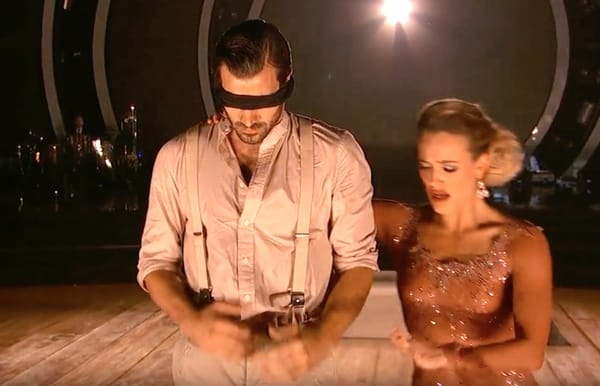 Nyle blindfolded DiMarco