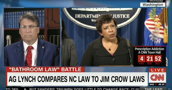 Pat McCrory insult Loretta Lynch
