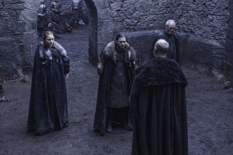 Jon and Sansa on Game of Thrones
