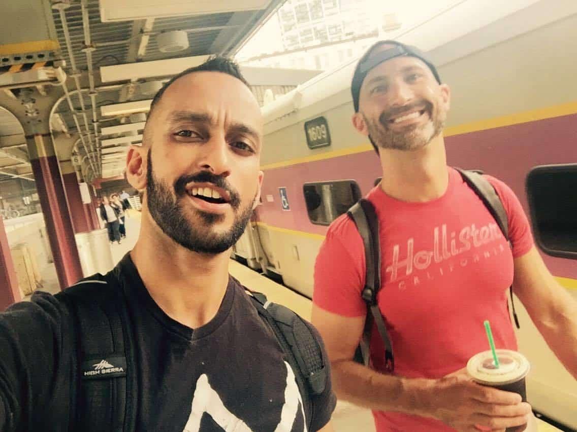 gay muslim --Sheraz Salahuddin and Andrew Sheranian inNYC last week.