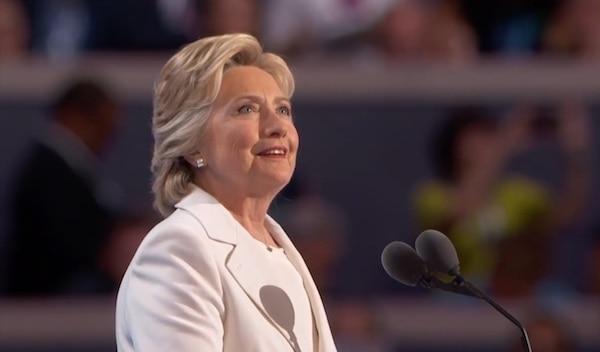 Hillary Clinton accepts