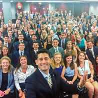 Paul Ryan Selfie Goes Viral for Highlighting Spectacular Lack of Diversity Among GOP Interns
