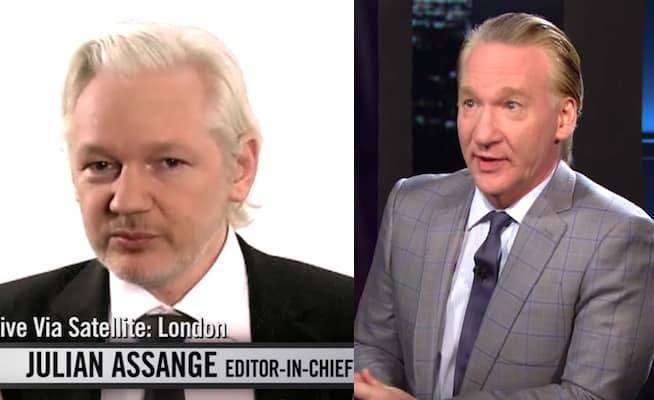 Julian Assange Bill Maher