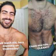 Nyle DiMarco Is Teaching Sign Language Shirtless – WATCH