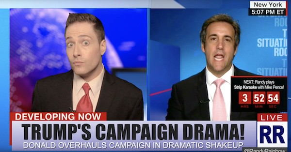 Randy Rainbow Michael Cohen says who