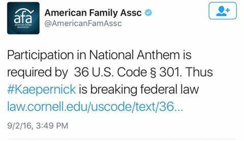AmericanFamilyAssnKaepernick