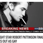 robert pattinson gay