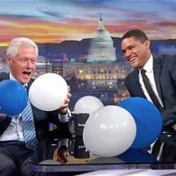 Bill Clinton balloon drop