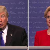 Alec Baldwin and Kate McKinnon Tear Up the Trump-Clinton Debate on SNL: WATCH