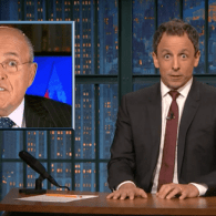 Seth Meyers: Chris Christie & Rudy Giuliani Look Like Comic-Book Henchmen Scared of Their Evil Boss – WATCH