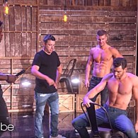 'Magic Mike Live' Dancers Teach Their Moves to Ellen's Producer Andy – WATCH