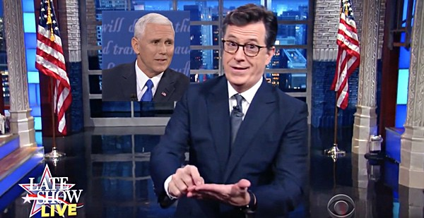 Colbert Mike Pence