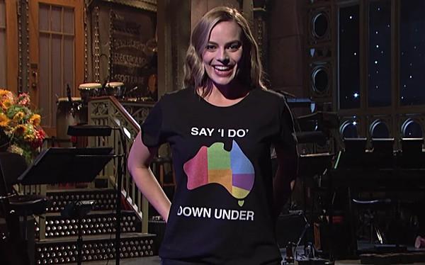 Margot Robbie marriage equality