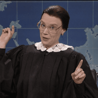 Kate McKinnon's RBG Gives Mike Pence a Gay 'Ginsburn' – WATCH