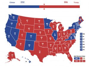 Electoral map 2016