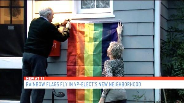 pence rainbow flag