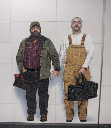 gay couple subway