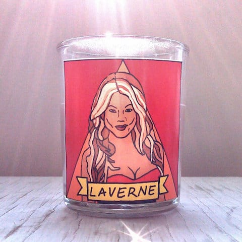 Laverne Cox candles makes a great gay gift